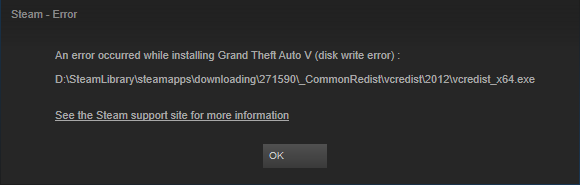 [SOLVED] How to fix Steam Disk write error on Multiple Games