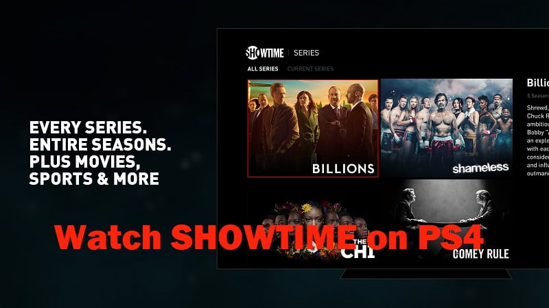 How To download and watch showtime on PS4?