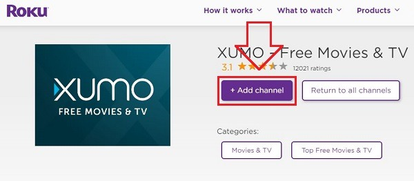 Xumo on roku