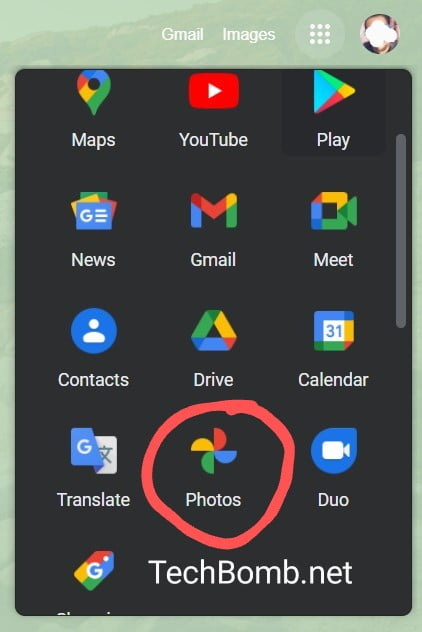 in app section, open Photos or directly Google it.