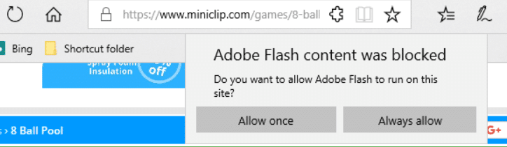 How to Unblock Adobe Flash Player on Edge