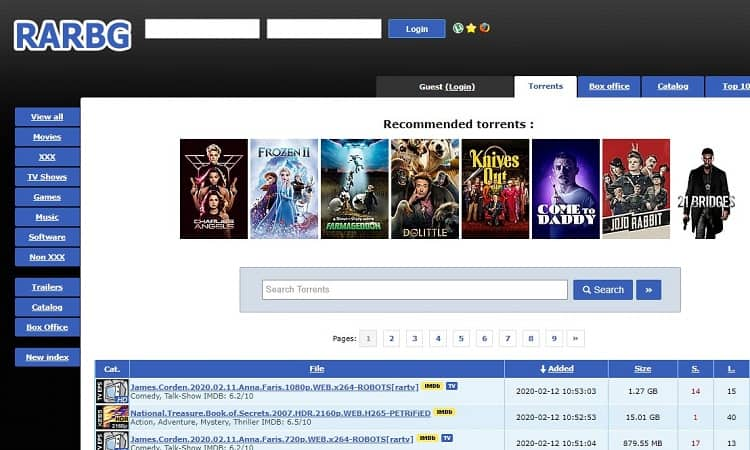 RARBG is one of the best torrent site