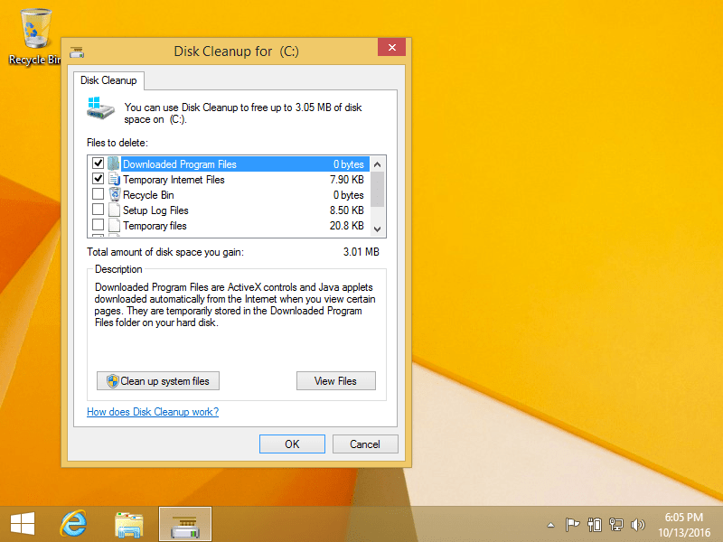 Disk CleanUp-computer sending automated queries