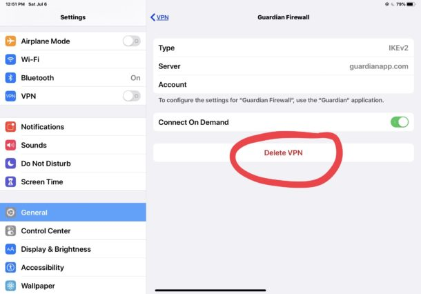 Disable any VPN