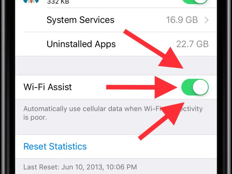 Switch Off WiFi-Assist