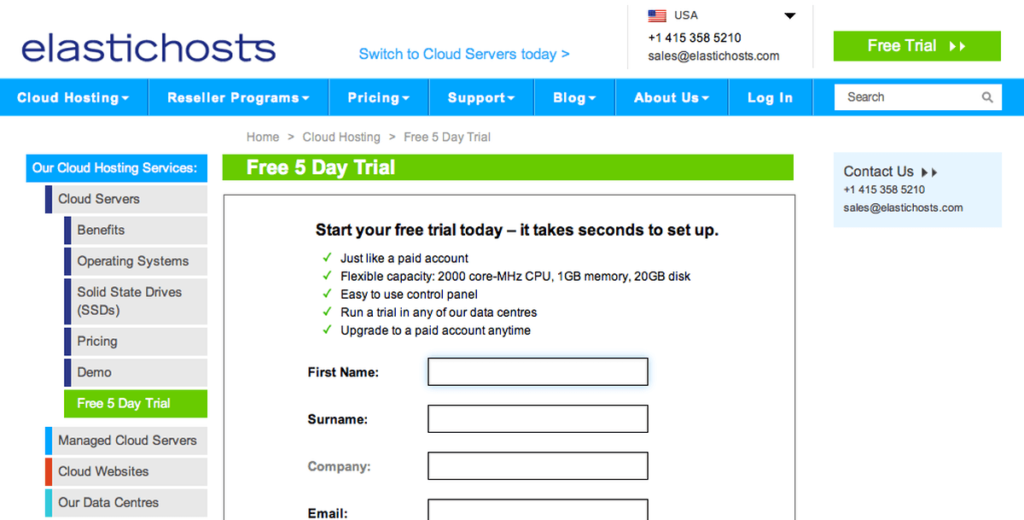 free vps trial