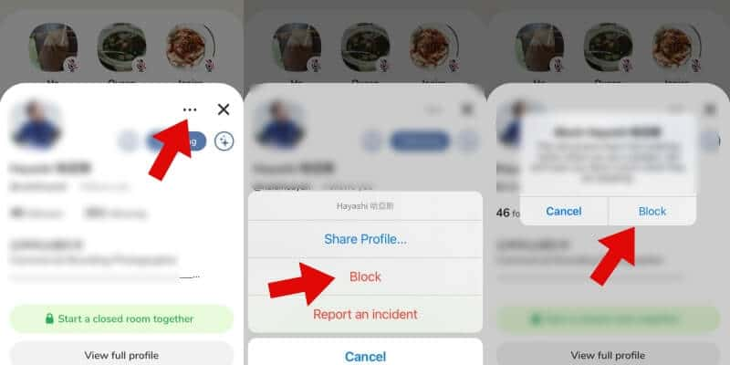 how to block someone on the clubhouse app