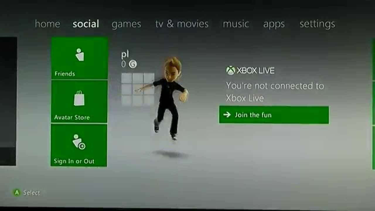 Sign in to your Xbox live account