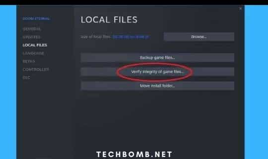Verify the integrity of the files