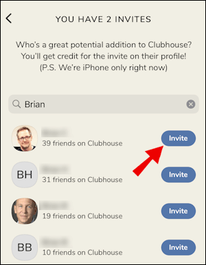 Invite Your Friends to Use The clubhouse App